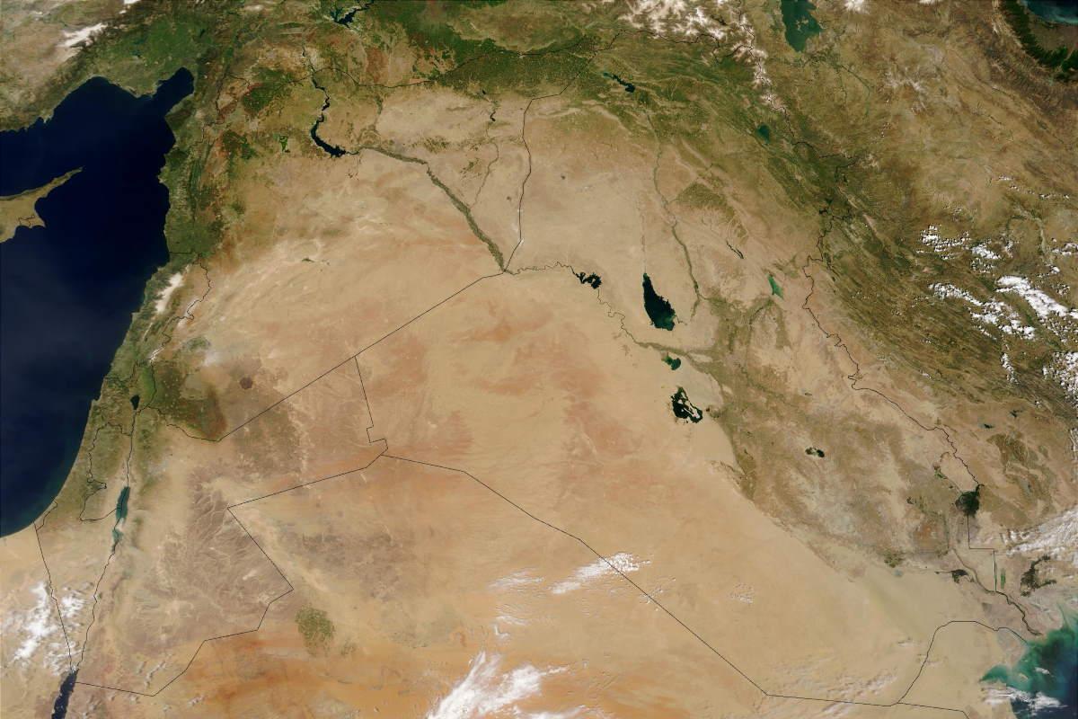 Uzaydan Ortadoğu